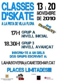 Cartell de classes d'Skate