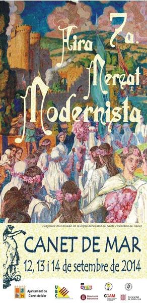 Cartell 7a Fira Mercat Modernista - 2014