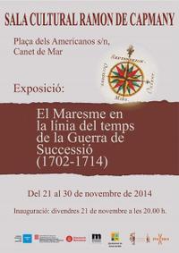 cartell exposició 1714 - novembre 2014