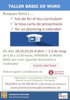 Taller Word bàsic - abril 2017