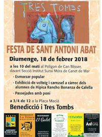 Cartell tres tombs - 2018