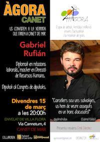 Cartell xerrada Gabriel Rufián - Àgora - març 2019