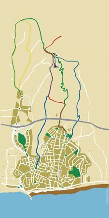 Canet disposa de quatre rutes senyalades