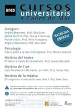 Cartell UNED cursos - 2016/17