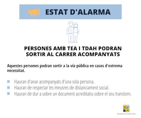 Estat alrma TEA